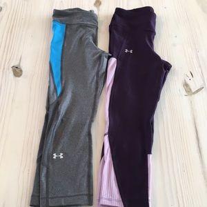 Two pairs UA pants